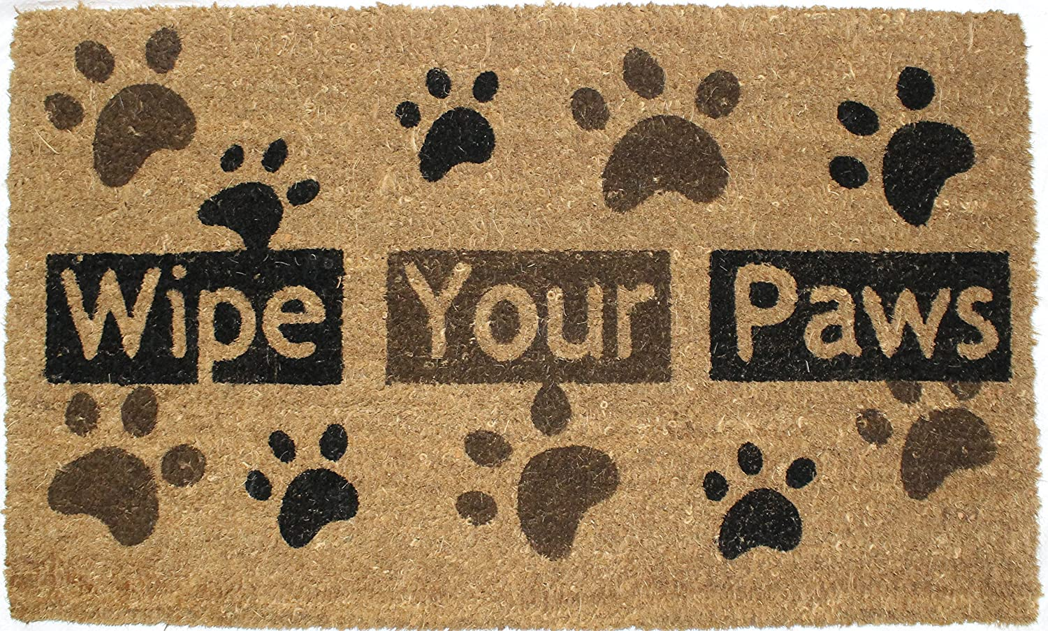 Amazon.com: J U0026 M Home Fashions Heavy Wipe Your Paws Natural Coir And  Rubber Doormat, 18 Inch By 30 Inch: Home U0026 Kitchen