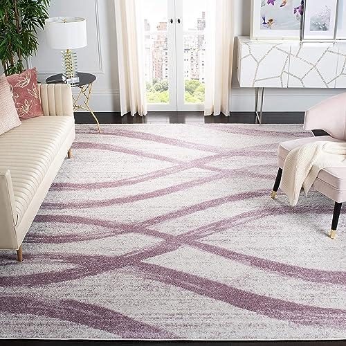 Safavieh Adirondack Collection ADR125L Cream and Purple Modern Area Rug 8' x 10'