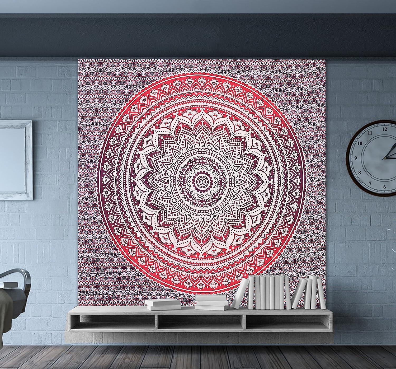 Amazon.de: Neue Entwürfe Lila Ombre Mandala Tapisserien Mandala ...