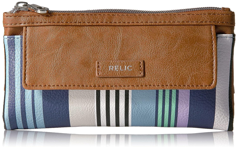 Relic Women's Bryce Navy Multi Stripe Checkbook Cover One Size RLS8621490