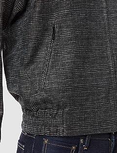 Tennis Bomber Jacket F2627: Black