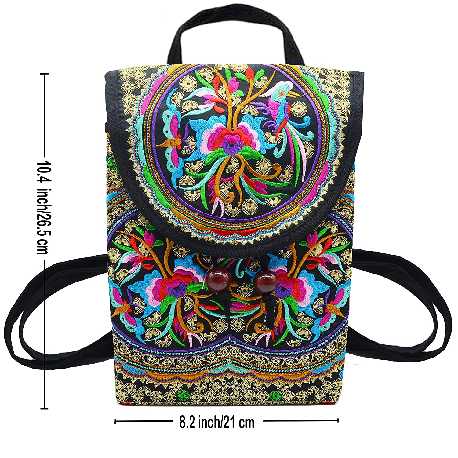 82f7b6a490 Amazon.com: MAYMII Women Handmade Flower Embroidered Bag Canvas National  Trend Embroidery Ethnic Backpack Travel Bags Schoolbags Mochila: Computers  & ...