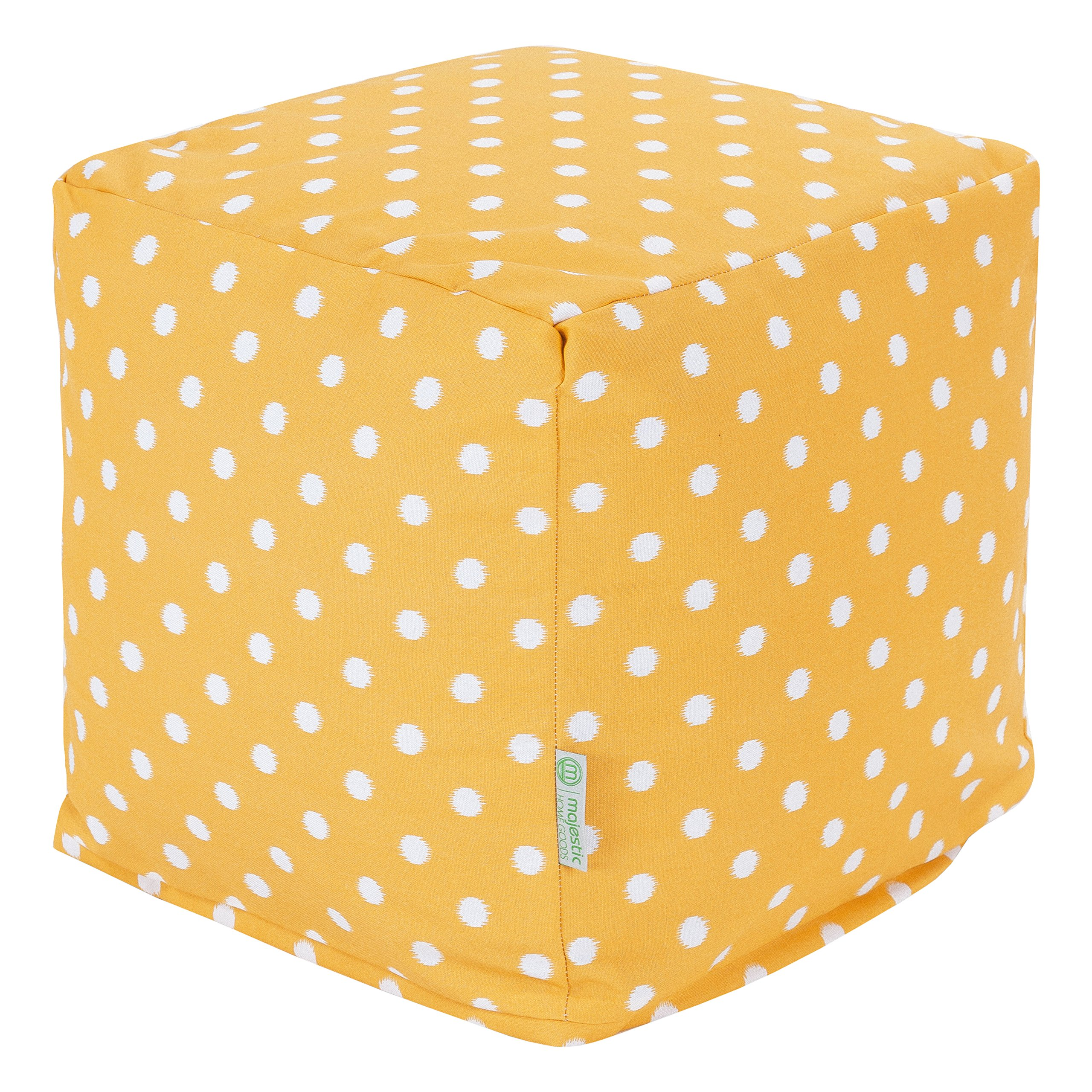 Majestic Home Goods Ikat Dot Cube, Small, Citrus