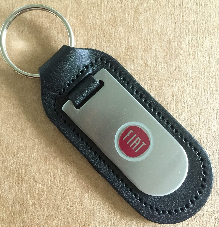 Home Guard Fiat Keyring Genuine Leather Keyring Keyfob