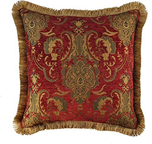 Sherry Kline China Art Decorative Pillow, 20 , Red