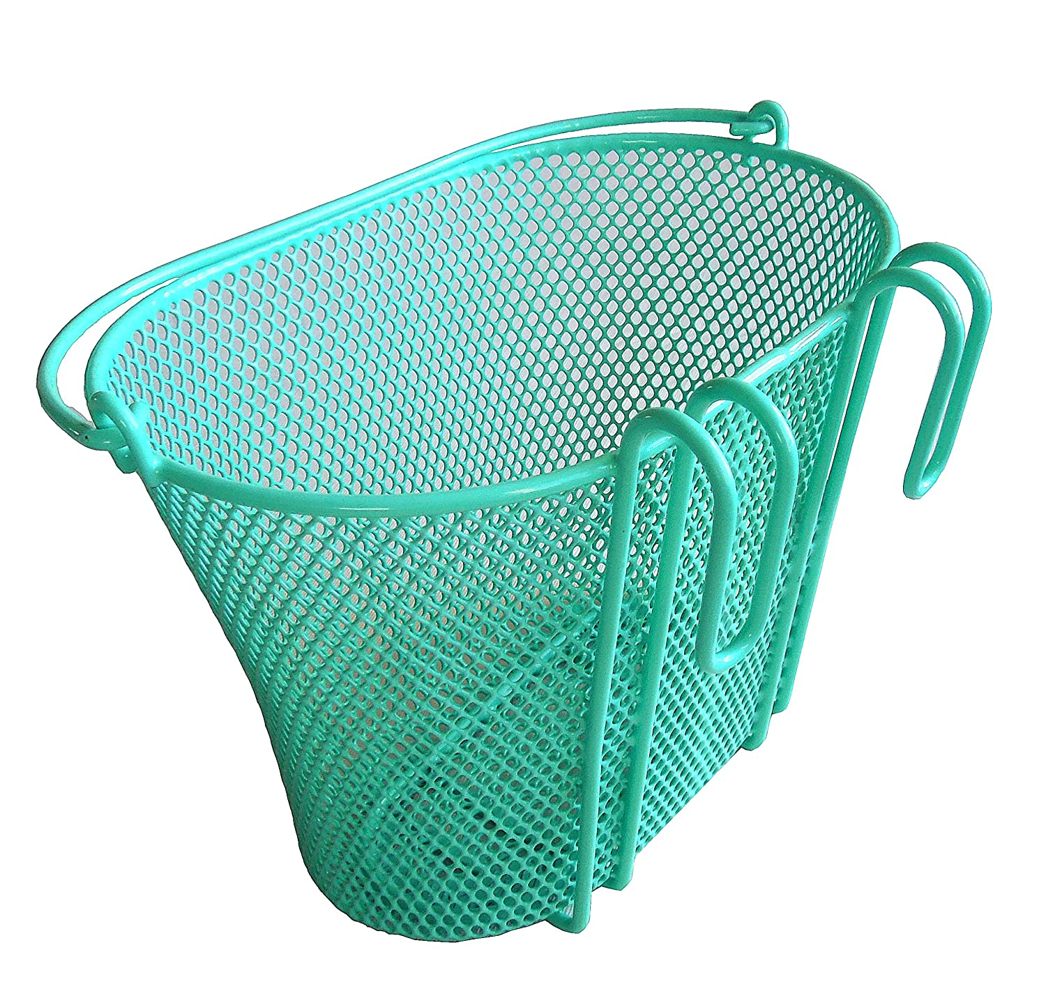 Basket with hooks Green, Front , Removable, Children wire mesh SMALL ...