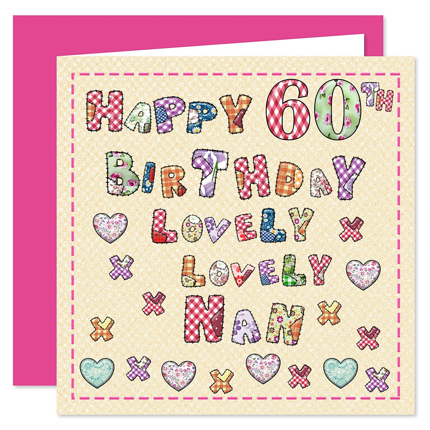 Nan 60th Happy Birthday Card