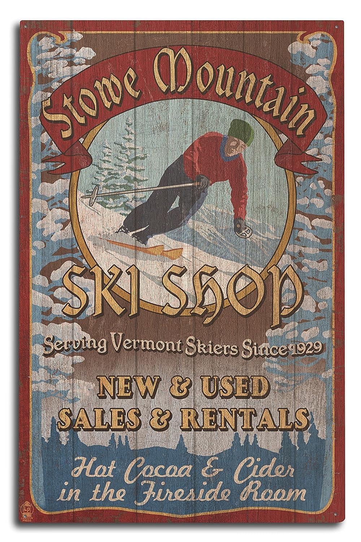超人気 Stowe山、バーモント州 – Sign Ski Ski Shop Vintage Sign x 24 x 36 Giclee Print LANT-40632-24x36 B07367T8PG 10 x 15 Wood Sign 10 x 15 Wood Sign, Casanova:3a3b4f59 --- mail.consumer1st.in