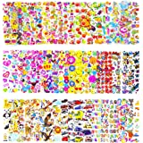 Pack of 50 Different Sheets MCY Toddlers and Kids Puffy Stickers for Children (Girls and Boys),1100+ Puffy Stickers Mega Variety Pack