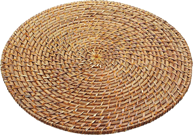 Masterclass Artesà Round Bamboo Rattan Serving Mat 35 Cm 14 Amazon Co Uk Kitchen Home