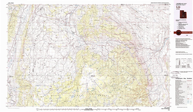 Amazon Com Yellowmaps Loa Ut Topo Map 1 100000 Scale 30 X 60