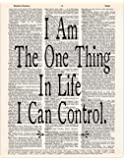 I am the One Thing in Life I Can Control, Hamilton Quote, Dictionary Page Art Print, 8x11 UNFRAMED