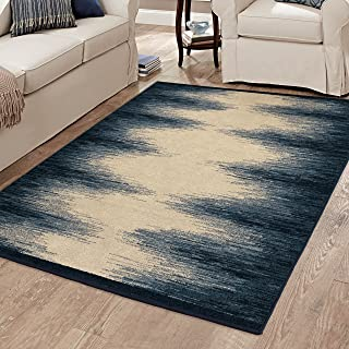 """product image for Orian Evening Whisper Area Rug, 3'11"""" x 5'5"""", Liberty Blue"""