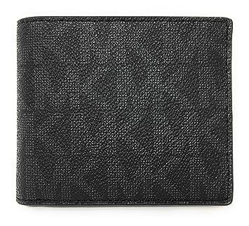 ec646642437c Amazon.com  Michael Kors Jet Set Mens Billfold Wallet (Black PVC)   DezignerChic