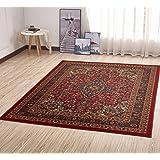 """Ottomanson Ottohome Persian Heriz Oriental Design with Non-Skid Rubber Backing, 60"""" L x 78"""" W, Red"""