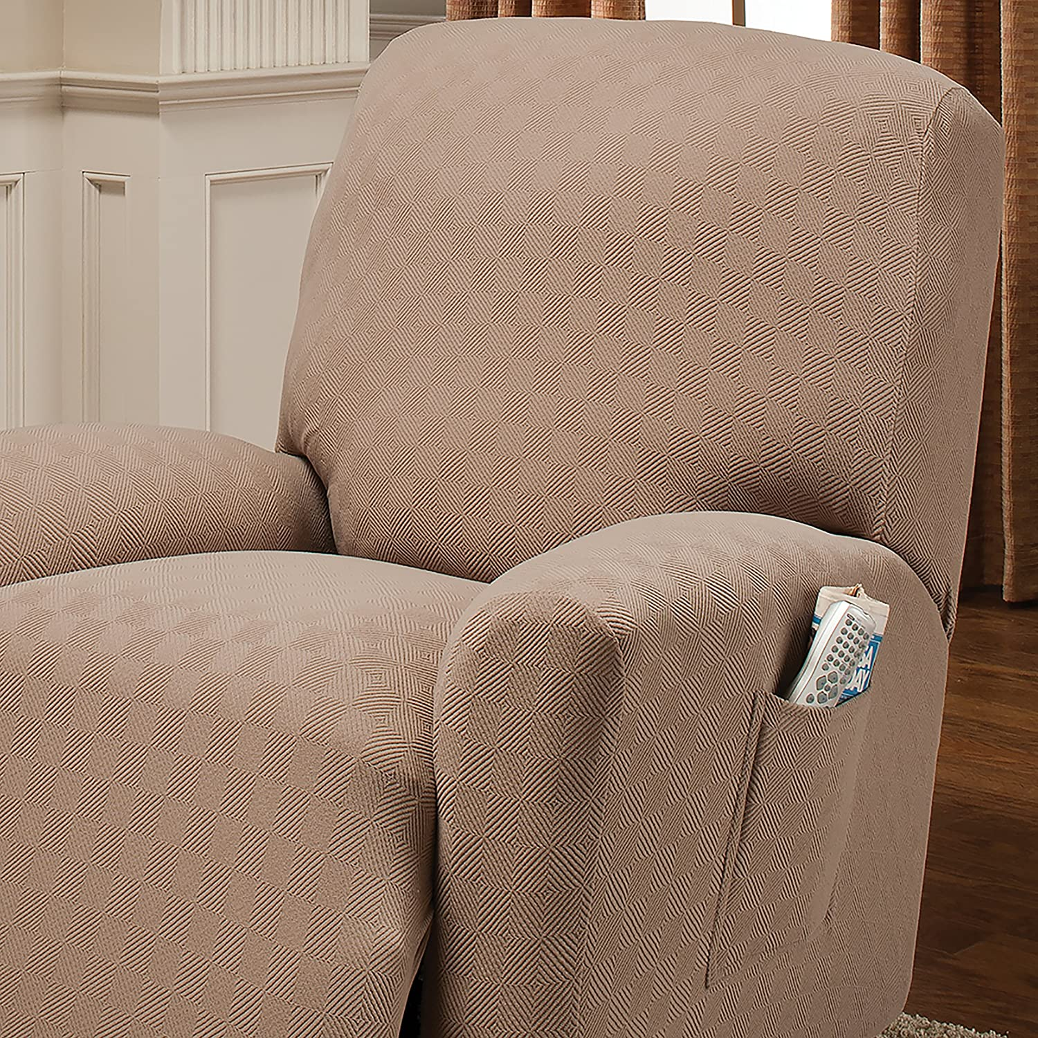 Stretch Sensations Newport Recliner Slipcover Cocoa