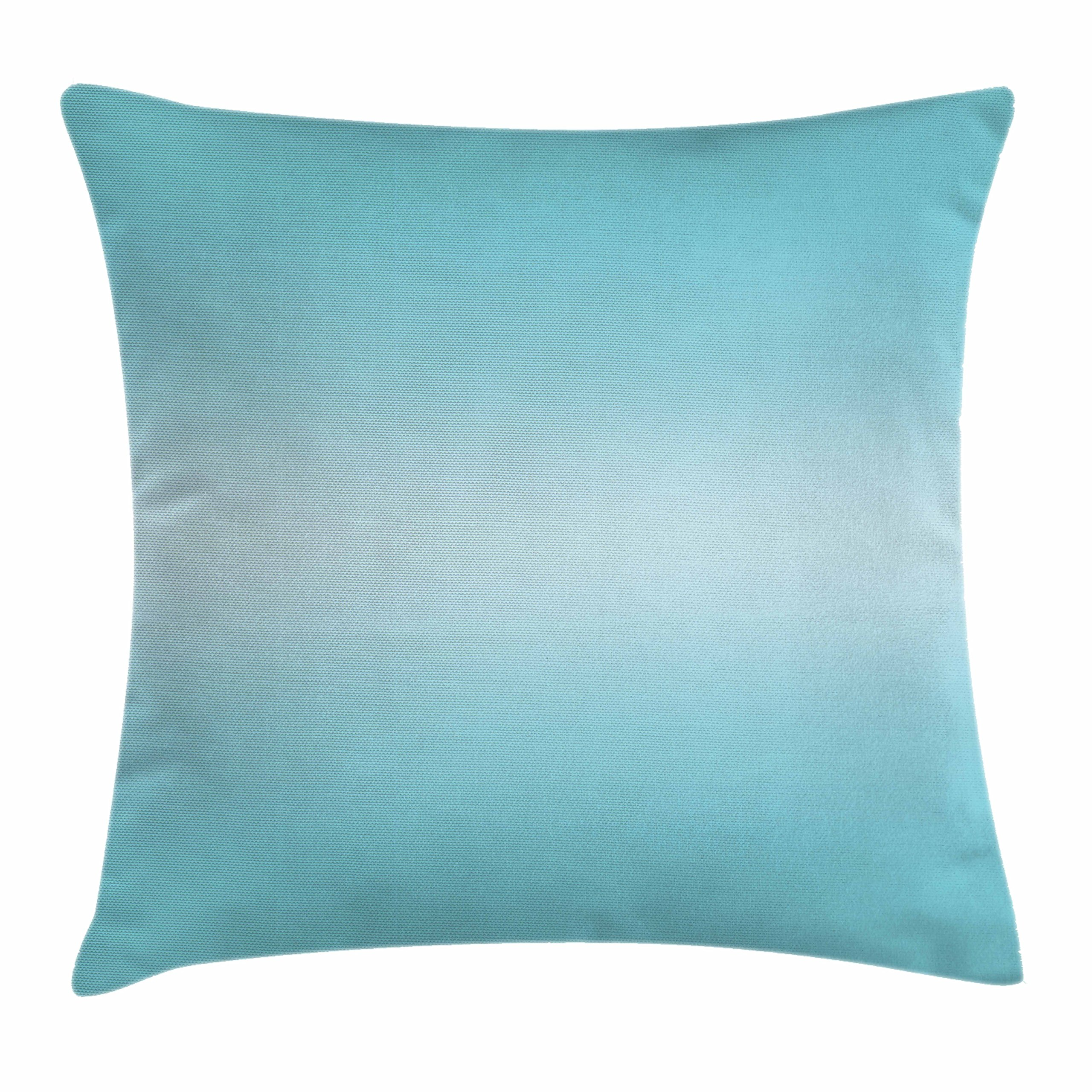Ambesonne Ombre Throw Pillow Cushion Cover, Open Blue Sky on a Spring Day Inspired Blue Colored Modern Design Room Decorations, Decorative Square Accent Pillow Case, 16 X 16 Inches, Turquoise