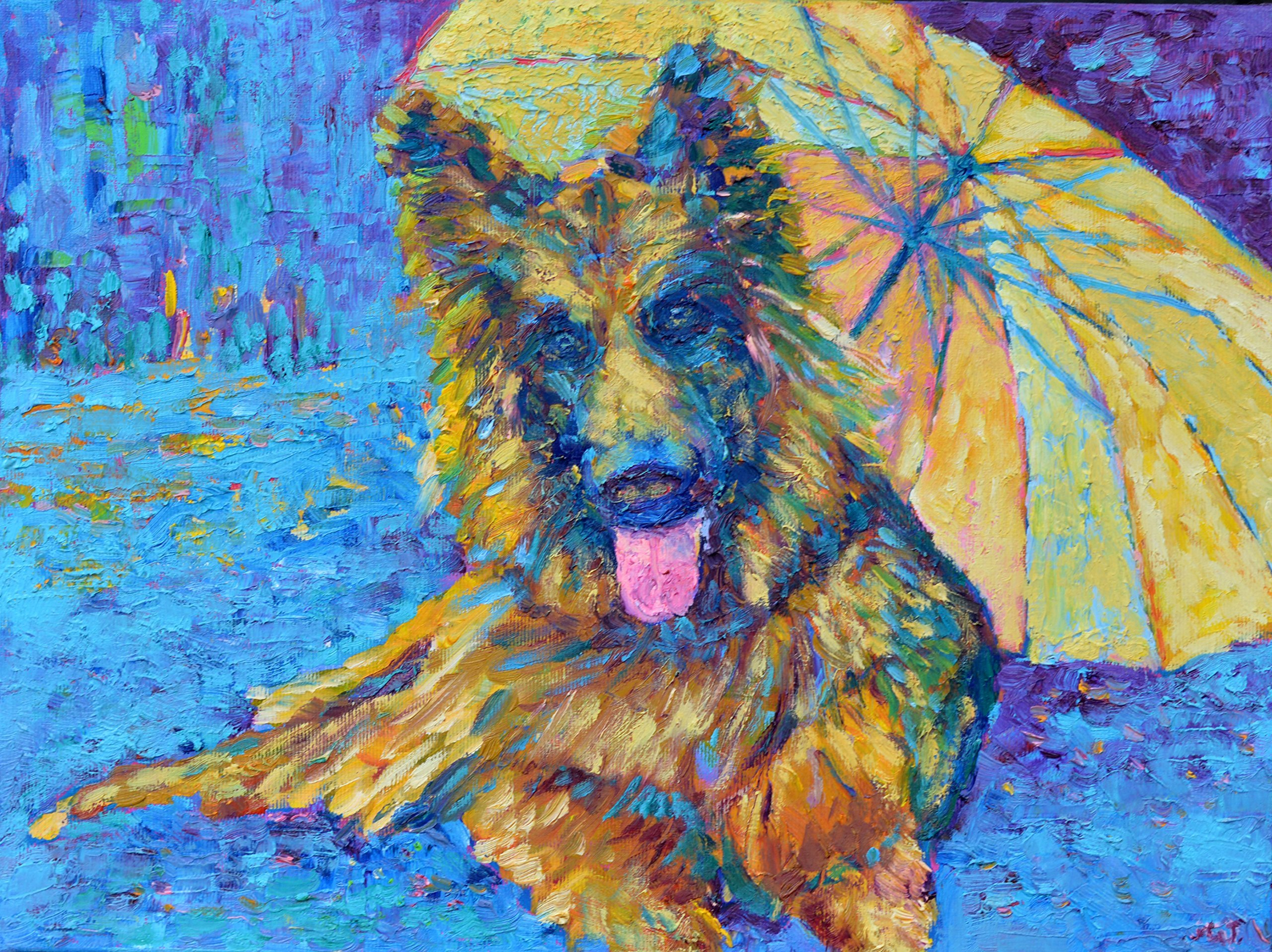 Dog Painting Pet Wall Art Animal Portraits OIL ON CANVAS Original Genuine Hand Painted Impressionist
