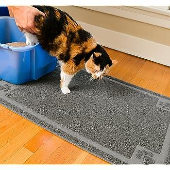 Amazon Com Petmate Litter Catcher Mat Extra Large Grey