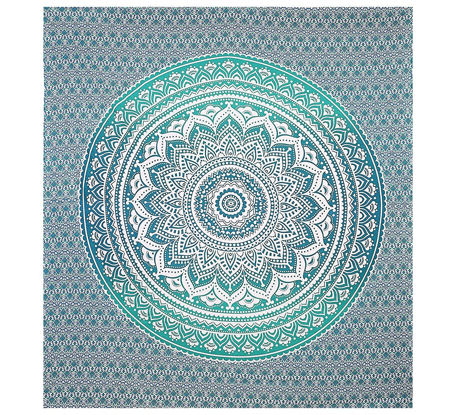 Amazon.com: Green Ombre Tapestry Indian Hippie Tapestry Wall ...