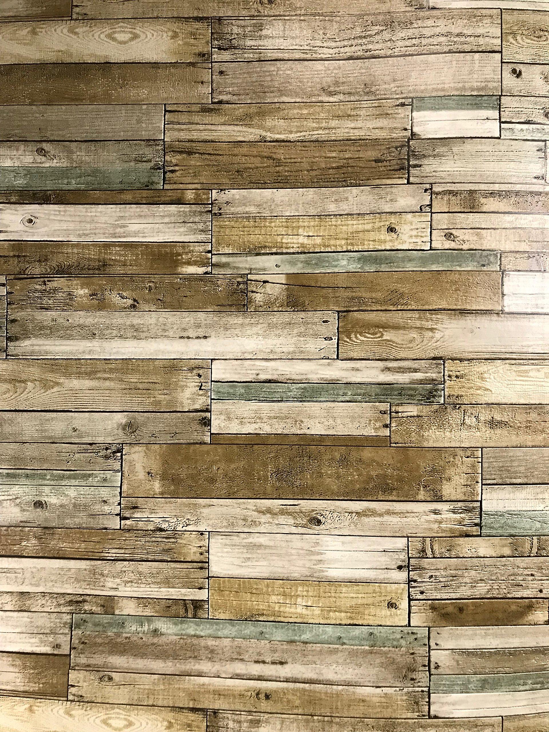 Slavyanski vinyl wallpaper brown grey with black seams old vintage retro faux rust rustic barn Distressed wood textured pattern double roll wallcoverings wall paper coverings textures washable modern