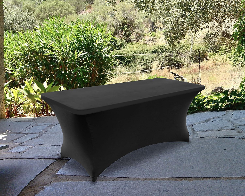 Utopia Kitchen Negro 183 cm 6ft - Spandex El/ástica Cubierta de Mesa Pa/ño Mantel Rectangular El/ástico Funda para Mesa