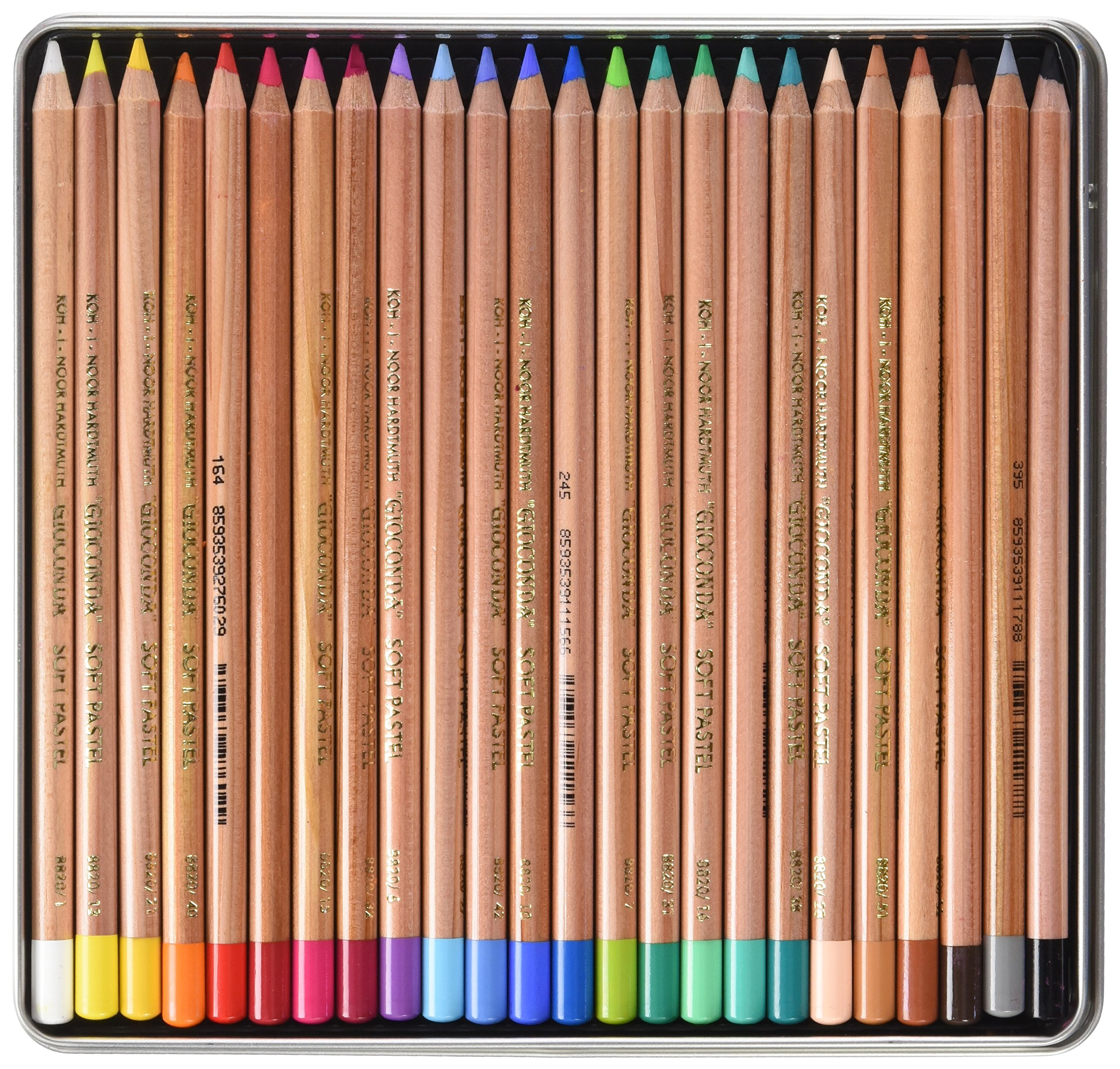 Koh-i-noor Gioconda Soft Pastel Pencils, 24 Assorted by Chartpak