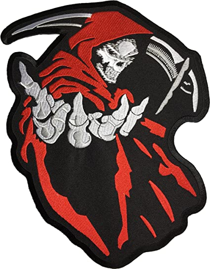 [Large Size] Papapatch Grim Reaper Scythe God Angel Of Death Ghost  Dangerous Evil Devil