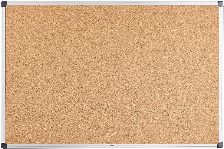 AmazonBasics - Bacheca in sughero, con cornice in alluminio, 90 x 60 cm 120867857