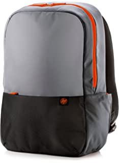 HP 15.6 Duotone Orange Backpack - Mochila para portátiles y netbooks (Negro, Gris,