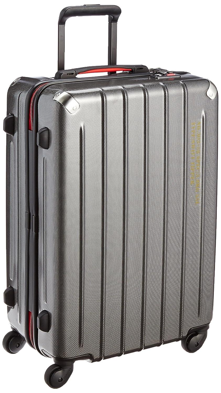 [プラスワン] PLUS ONE 軽量スーツケース SWIFT(スウィフト) 55L 3.8kg ヒノモトキャスター  ブラックカーボン B014U6YNRU