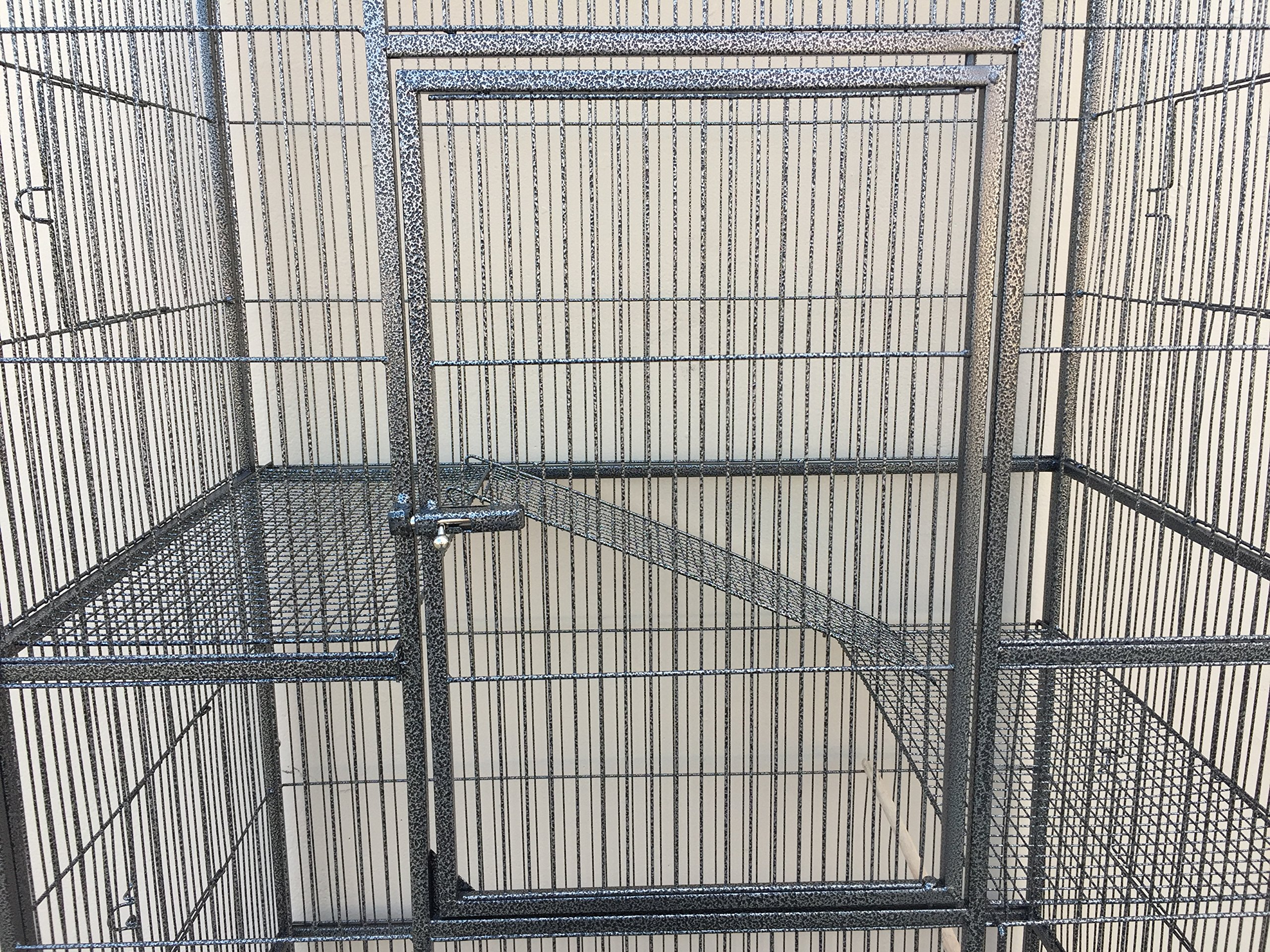 New Large Wrought Iron 4 Levels Ferret Chinchilla Sugar Glider Mice Rat Cage 32-Inch by 19-Inch by 64-Inch with Removable Stand by Mcage