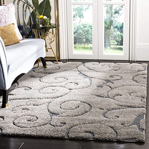Safavieh Area Rug, 8 x 10 , Grey Light Blue
