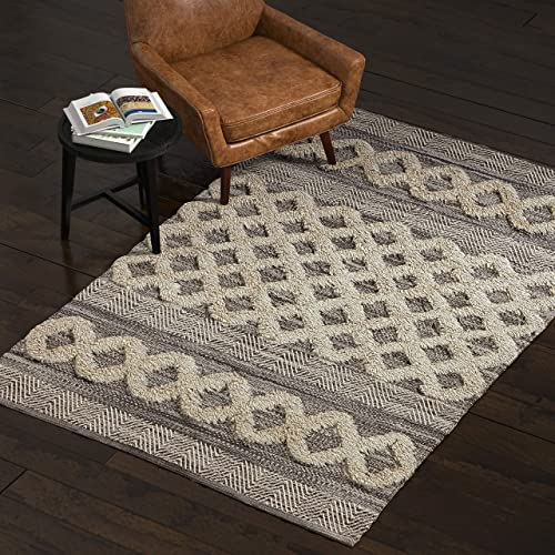 Amazon Brand Stone Beam Modern Textured Subtle Bohemian Area Rug