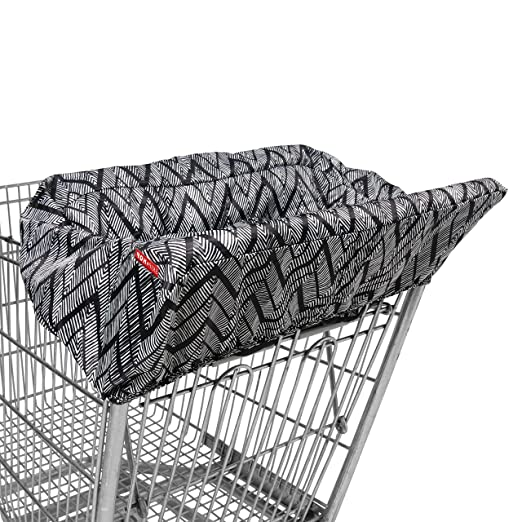 Amazon.com : Skip Hop Shopping Cart and Baby High Chair Cover, Take Cover, Zig Zag Zebra : Baby