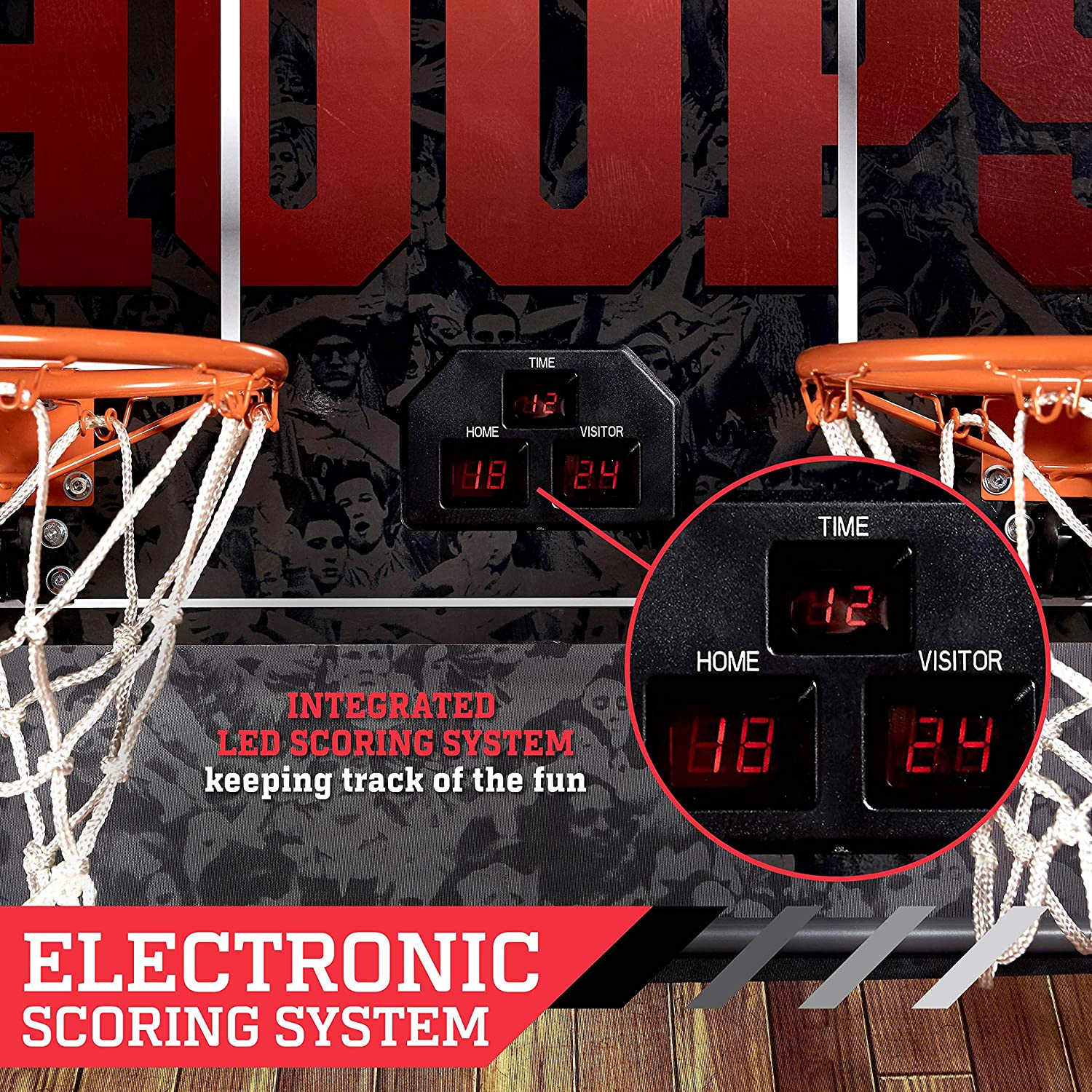 Espn Ez Fold Indoor Basketball Game For 2 Players With Led Beat Box Wiring Diagram Scoring And Arcade Sounds 6 Piece Set Sports Outdoors