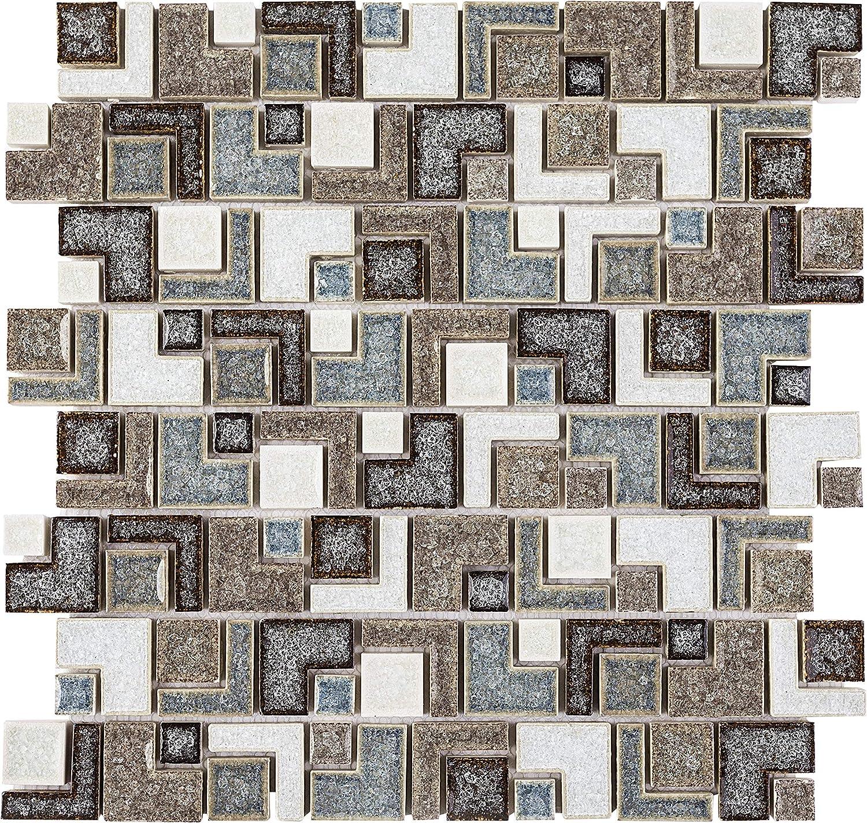 - Amazon.com: TRPCG-13 Brown & Green Cracked Glass Maze Random