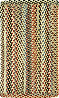 product image for Capel Rugs St. Johnsbury Vertical Stripe Rectangle Braided Area Rug, 2 x 9, Wheat