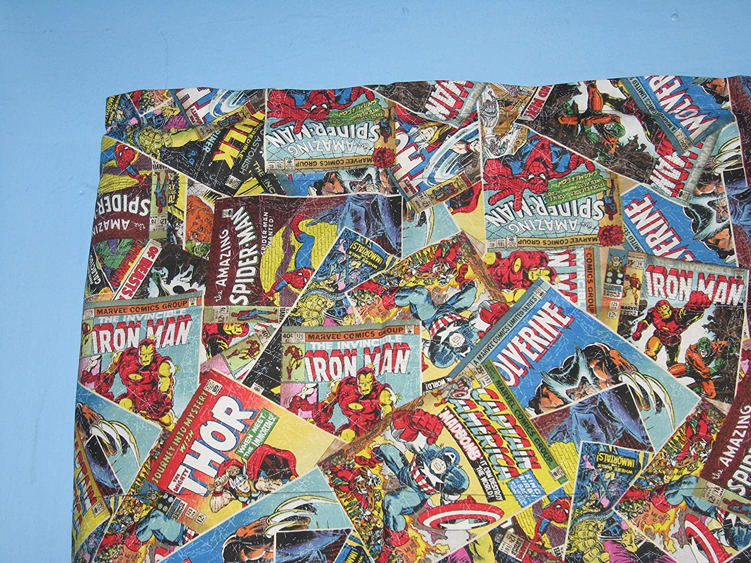 Marvel Retro Comic Cotton Window Curtain Valance Handmade