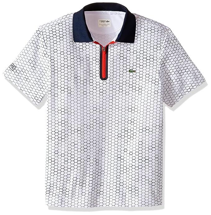 Amazon.com: Lacoste Boys\u0027 Big Boys\u0027 Sport Short Sleeve Ultra Dry Polo with  Zipper Placket: Clothing