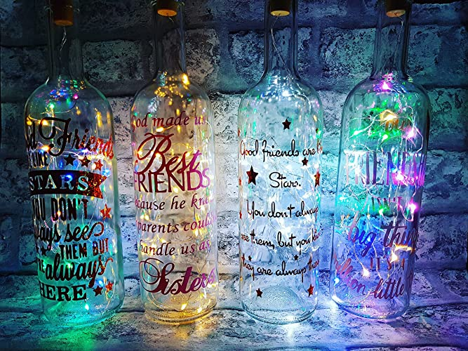 Image result for light up wine bottle love