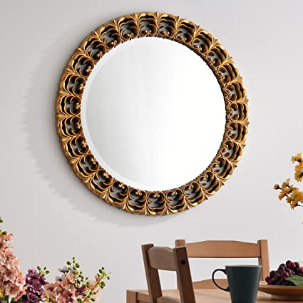 Amazon Com Design Craft Musketeer Wall Mirror Gold Home Kitchen