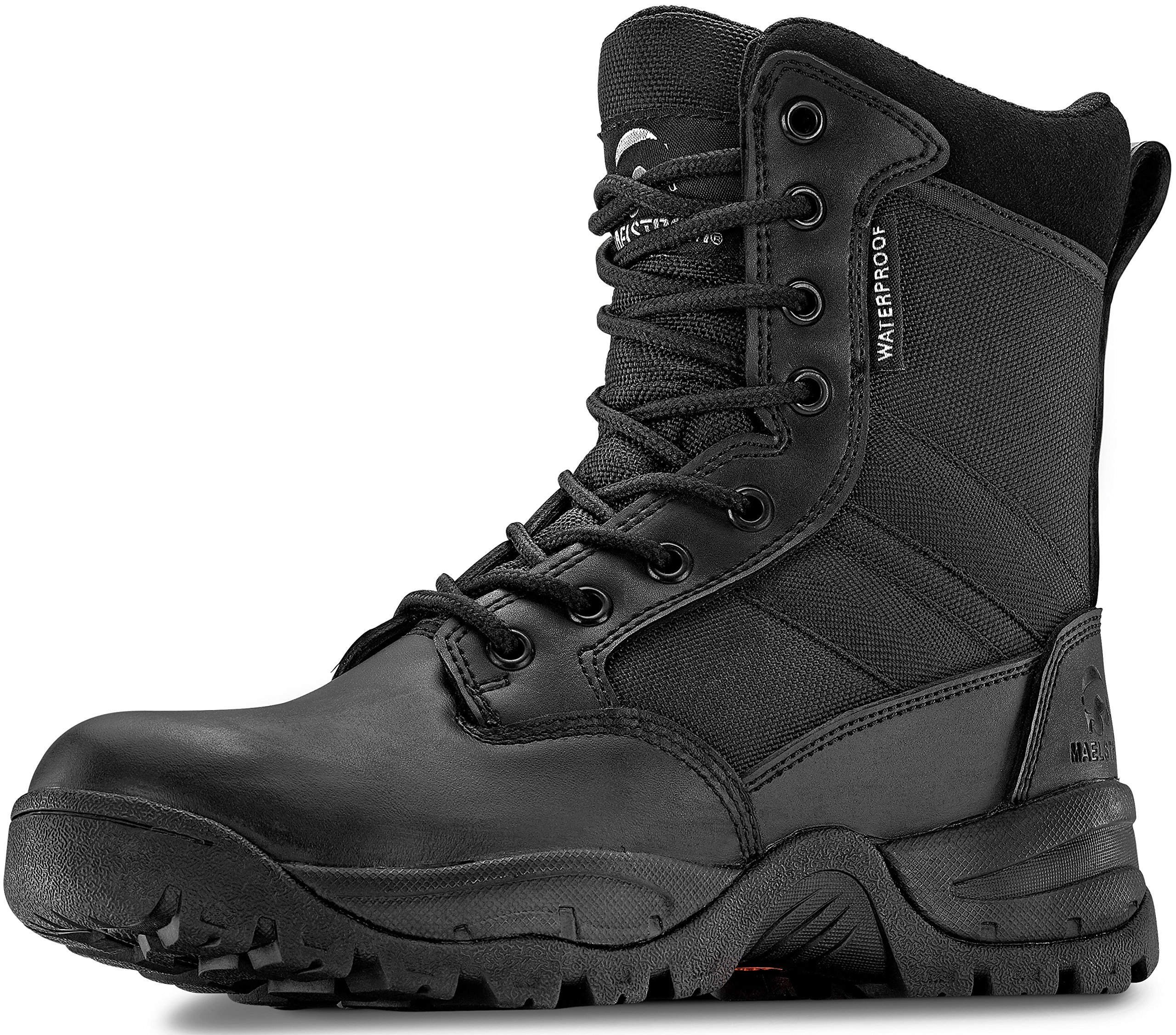 Maelstrom Tac Force 8'' Women's Black Waterproof Boots With Zipper – Military, Work & Tactical Boots – Athletic, Breathable, Durable, Comfortable & Lightweight Boots For Women, Size 8.5M by Maelstrom (Image #3)