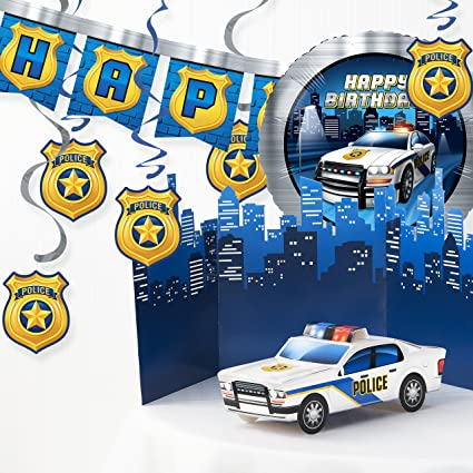 Amazon.com: Policía Kit de decoraciones de fiesta de ...
