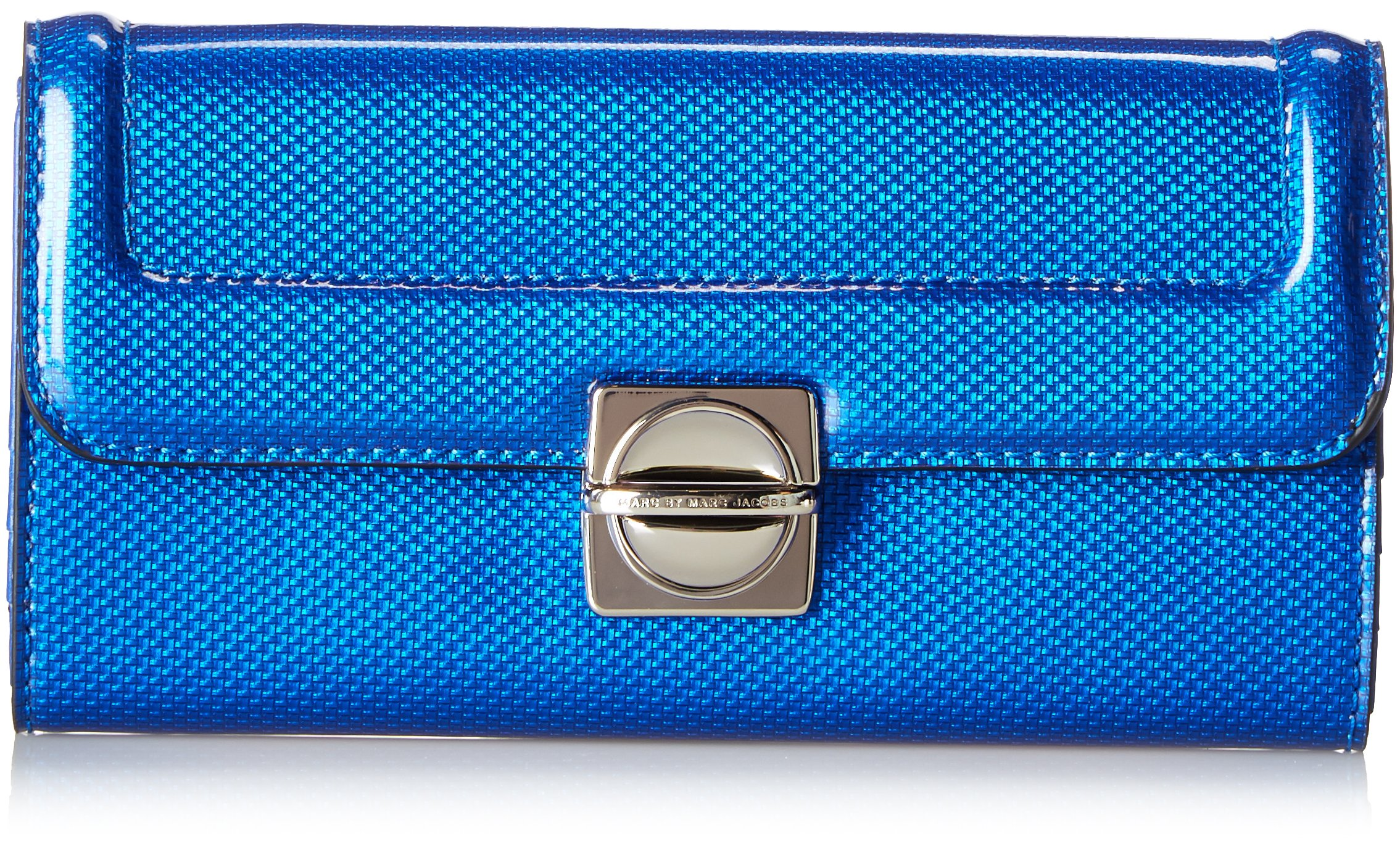 Marc by Marc Jacobs Top Schooly Reflector New Long Trifold, Blue, One Size