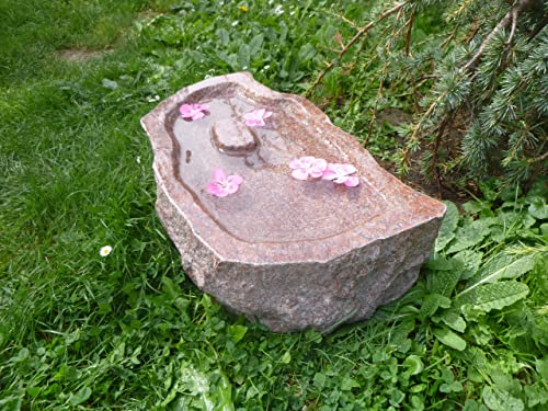 Unikat Handarbeit ! Vogelbad aus Naturstein 43 Vogeltr/änke aus Granit Nr