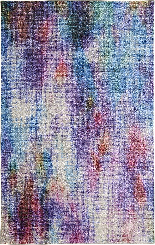 Mohawk Home Prismatic Linear Pixel Multicolor Abstract Precision Printed Area Rug, 5'x8' , Multicolor