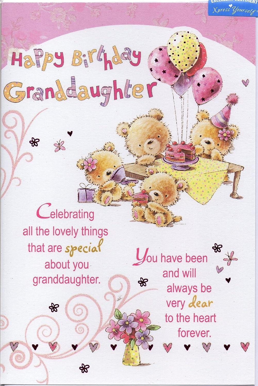 Granddaughter Birthday Card Happy Birthday Granddaughter Cute Happy Birthday Wishes For A Granddaughter