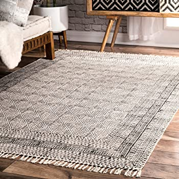 Amazon Com Nuloom Contemporary Flat Weave Cotton
