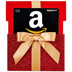 $25 Gift Card in a Gift Box Reveal (Classic Black Card Design) Link Image